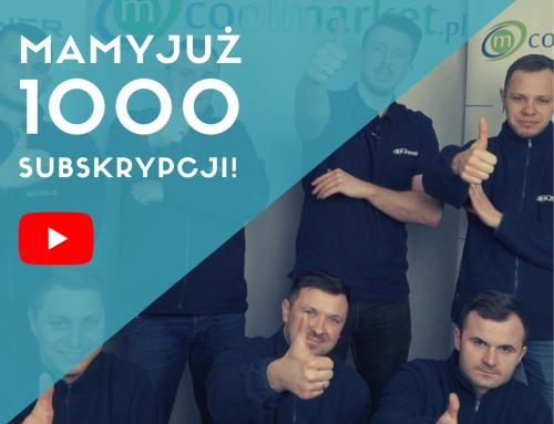 Mamy 1000 SUBSKRYPCJI kanału Coolmarket TV! Dziękujemy!